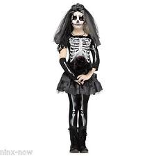 Skeleton Bride Girls Halloween Costume Fancy Dress