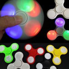 Flash LED intranquilo Spinner Mano Dedo enfoque EDC Acero Cojinete anti stress juguete UK