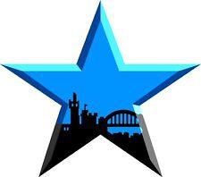 Geordie Star Vinyl Sticker window car laptop decal football Newcastle Toon army