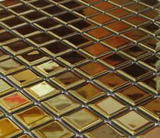Mosaik Fliese Glasmosaik gold Wand Duschwand Bad Dusche Art:60-0706_b | 1 Matte