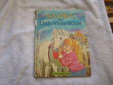 "Snowy The Little White Horse A Big Golden Book 1965 ""B"""