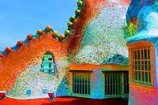 Casa Batllo Gaudi Barcelona Catalonia Spain photograph picture poster art print