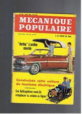 MECANIQUE POPULAIRE N°193 1962 helicoptere grenouilles sautantes joute lyonnaise