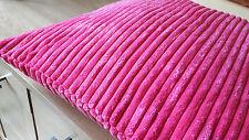 "4 X Velvet/Chenille  Luxury  Super Soft Touch Cushion Covers 17""x17"" 10 Colours"