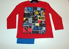 Kinder Pyjama Set Schlafanzug Jungen Star Wars rot blau Größe 98 104 116 128 #1