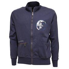 7724T felpa uomo NORTH SAILS blu delave' full zip coton sweatshirt cotton men