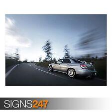 SUBARU IMPREZA (AB600) CAR POSTER - Photo Picture Poster Print Art A0 to A4