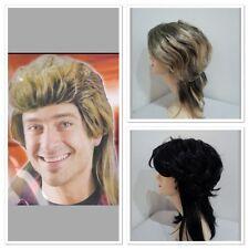 Black/ blonde Mullet wig 70s 80s Party Costume Rock Bogan