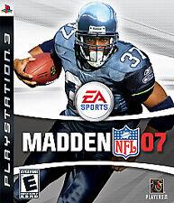 Madden NFL 07 (Sony PlayStation 3, 2006) - NEW