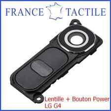 Lentille Vitre de Caméra Arrière Appareil Photo + Bouton Power pour LG G4 Noir