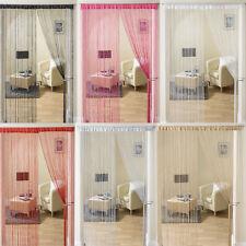 Glam Lurex Sparkle Bling Modern String Curtain Panel 90cm x 200cm - 6 Colours