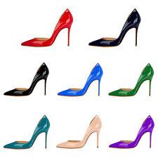 Verocara Women Pointed Toe High Heel D'Orsay&Two-Piece Patent Dress Pump Shoe