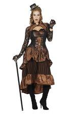 Steampunk Kostüm für Damen Lady Damenkleid Karnevalskostüm Frauen Fasching