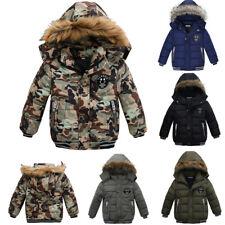 Kinder Jungen Winter Dicker Mantel Winterjacke Stepp Mantel Kapuze Parka Warm