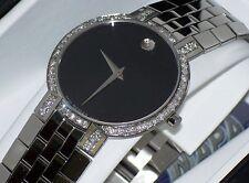 Authentic Men's movado faceto 0605040 0.80ct.apx.custom set Movado diamond watch