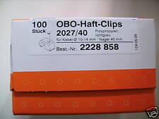Obo detención clips de 2027/40 10-14mm luz gris * 100 unidades *