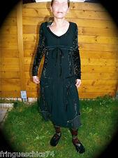 MC PLANET vestito a maniche lunghe nero T 38 NUOVA ETICHETTA di alta qualità