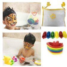 Kids Bath Bag Toys Storage Tidy Net Mesh Organiser Duck Suction Tub + 6 Boats