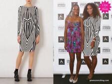 Topshop Black White Stripe Bodycon Midi Dress SIZE UK10 EUR38 US6