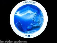 SCHMUZ-BAUDISS Rosenthal Wandteller Weihnachten 1926 ° Pate-sur-Pate Dekor