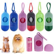 Garbage Clean up Bags Waste Carrier Holder Dispenser+Poop Bags For Pet Dog Cat