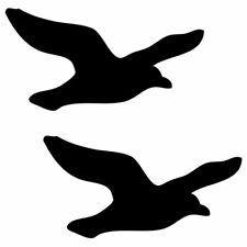 2 x Bird Seagull Gull 10cm - 1m Car Window Wall Stickers Decal Pack 31 Black