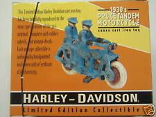 HARLEY DAVIDSON DIECAST 1930 POLICE TANDEN TOY
