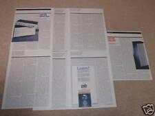 Adcom GFA-565 Amp Review,GFP-565 Preamp,7 pgs,reprint