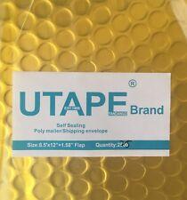 8.5x12 Gold Metallic Bubble Mailer Padded Envelope Bags Poly Mailer UTAPE® Brand