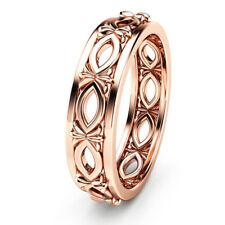 Filled Wedding Ring Size 6-10 Charm Women/men Fashion Ring Rose Gold