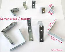 Zinc Corner Brace Bracket +SMALL-LARGE+ Woodwork Pelmet Repair L Shape Joint Fix