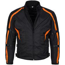 kurze Motorradjacke Cordura Textil Roller Biker Schwarz Orange Gr. M bis 4XL 784