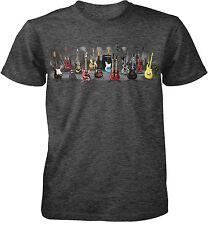 Electric Guitars Adult T-Shirt -Gibson Fender Martin Santana Paul Reed Music Tee