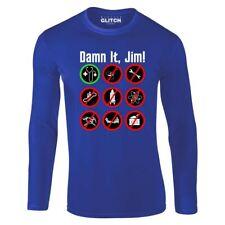 Para hombres mangas Largas! maldición que Jim Camiseta médico Trekkie el capitán Kirk de Star Trek