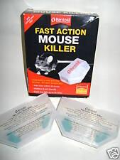 New Rentokil Fast Action Mouse Killer Bait Box 2 Pack