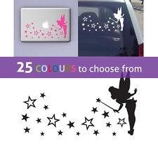 Tinkerbell Fata Pixie stella polvere Wall Sticker Art Ragazza Nursery portatile auto Disney