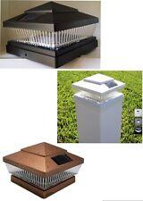 2-Pack Garden Black/Copper/White 6 X 6 Solar 5 LED 78Lumens Post Cap Lights