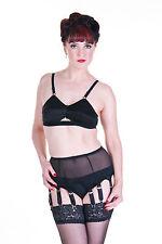 080 - Sheer Powernet Suspender Belt, 10 strap, black, red or white all sizes