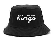 Kings Of NY Kings Script New York Logo Bucket Hat Cap