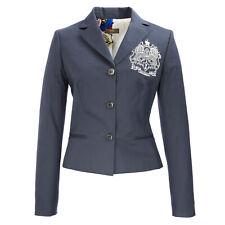 ICE ICEBERG Steel Blue Cotton Blend Emblem Blazer L071 $404 NWT