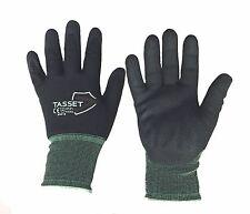 Tasset 940 Nitrile dipped work gloves coated nylon 15ga Industrial S, M, L, XL