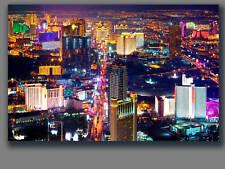 "Las Vegas City View Canvas Framed Home Office Wall Art Deco 30""x20"""
