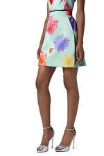 TOPSHOP Floral Heart Limited Edition A-line Short Skirt Mint Green UK 6 8 14 16