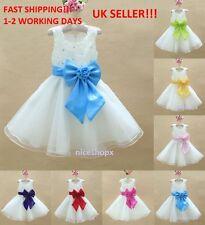 GIRLS Flower Formal Wedding Bridesmaid Party Christening Dress(6)