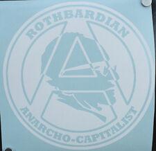 Murray N Rothbard Vinyl Decal /Sticker Libertarian Anarchist Anarcho-Capitalist