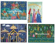*MILA MARQUIS*Postkarte*Weihnachten*Glitzereffekt*Krippe*Hl.3 Könige*Musik*A6*