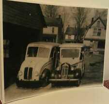 Old Friedens Pa. I.X.L. Creamery Dairy Milk Delivery Trucks  Print