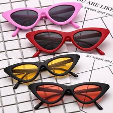 Oeil de chat Lunettes de soleil Femmes Anti-UV Triangulaire Rétro Cadre Lunettes