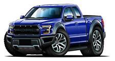 2017 2018 Ford Raptor F150 Pickup Truck Car-toon Wall Art Graphic Sticker