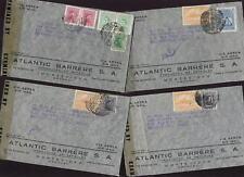 URUGUAY 1944 AIR CENSOR COVERS to USA..ATLANTIC BARRERE